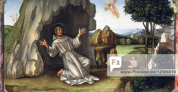 St Francis Receiving the Stigmata,  late 15th-early 16th century. Artist: Francesco Francia