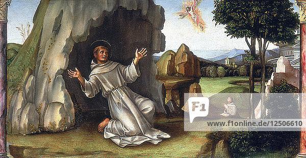 St Francis Receiving the Stigmata  late 15th-early 16th century. Artist: Francesco Francia