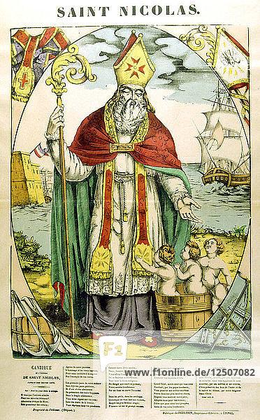St Nicholas  19th century. Artist: Anon