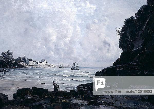 The Port of Douarnenez  1884. Artist: Emmanuel Lansyer