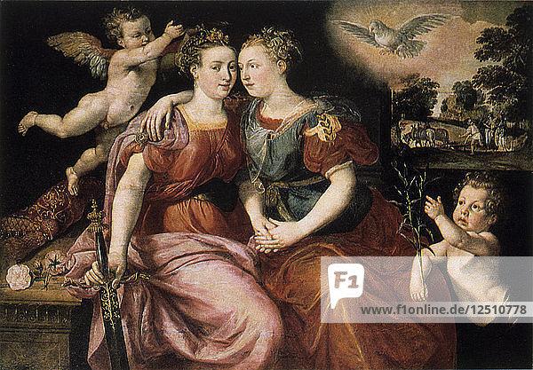 Peace and Justice  16th century. Artist: Martin de Vos