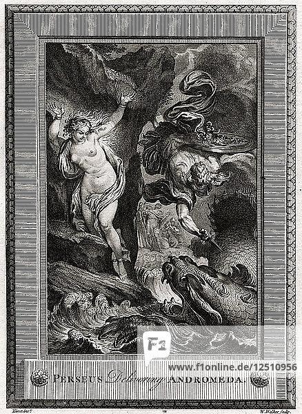Perseus Delivering Andromeda  1775. Artist: W Walker