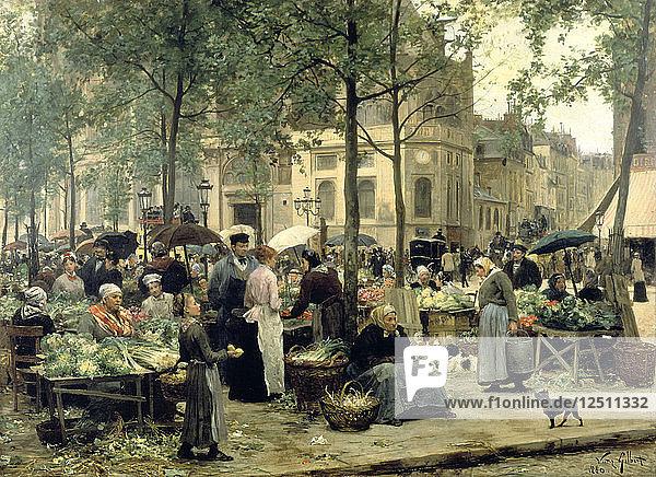 Le Carreau des Halles  Paris  1880. Artist: Gilbert Victor Gabriel