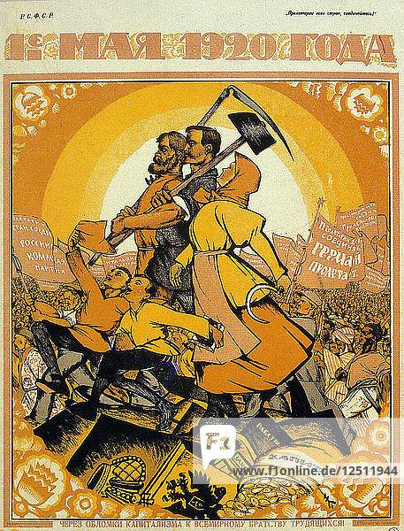 May Day 1920. Artist: Nicolas Kotcherguine