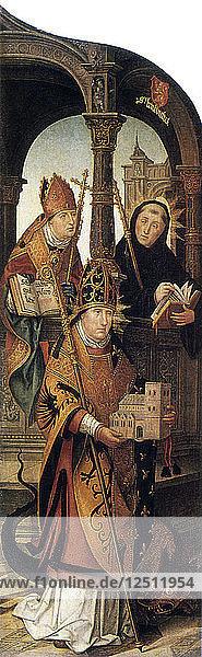Annunciation  1516-1517. Artist: Jean Bellegambe