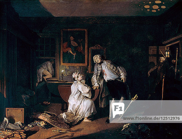 Marriage A-la-Mode: 5. The Bagnio  c1743. Artist: William Hogarth