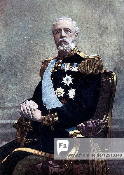 King Oscar II of Sweden  late 19th-early 20th century. Artist: Unknown