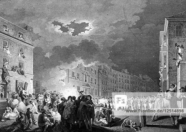 Riot in Broad Street  London  1780  (1790). Artist: James Heath
