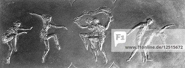 Pavlova dancing the Autumn Bacchanal  (c1911?). Artist: Maurice Charpentier-mio