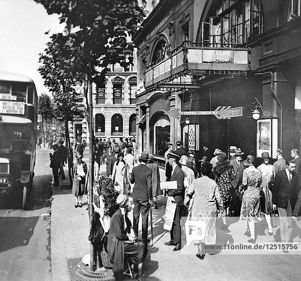 Holborn Station  London  c1920s. Artist: George Davison Reid