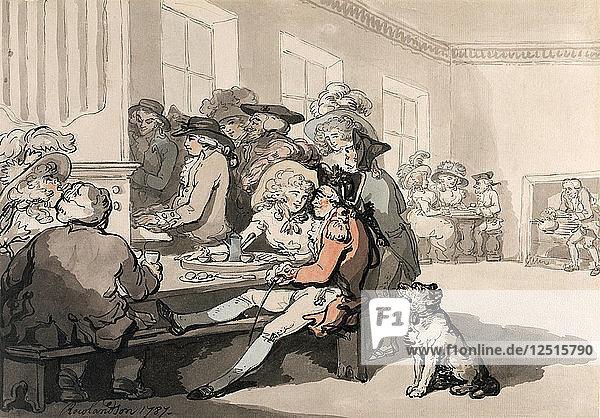 The Chocolate House  1787. Artist: Thomas Rowlandson