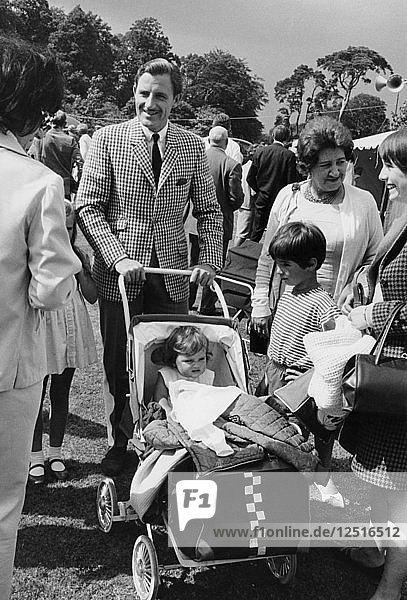 Graham Hill with his family  c1968. Artist: Unknown