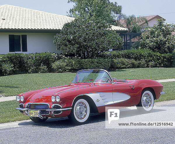 1961 Chevrolet Corvette. Artist: Unknown