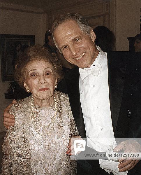 Frances Gershwin (sister of George Gershwin) and her son  Leopold Godowsky III  New York  July 1998. Artist: George Gershwin Artist: Unknown