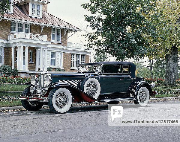 A 1931 Duesenberg J Convertible Victoria. Artist: Unknown