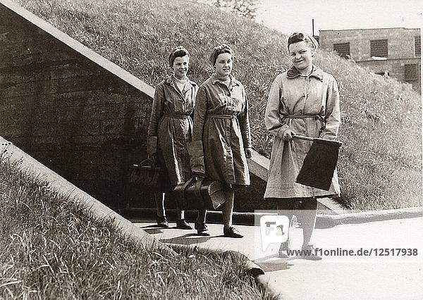 Munitions work  County Industries  York  Yorkshire  1943. Artist: Unknown
