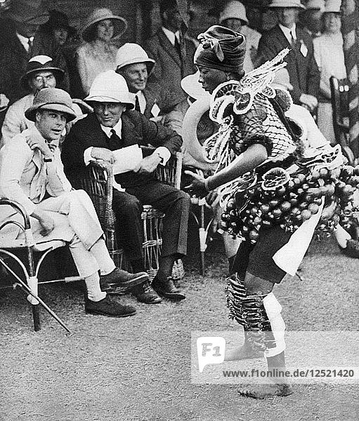 The Prince of Wales watching a traditional dance  Freetown  Sierra Leone  1925. Artist: Unknown