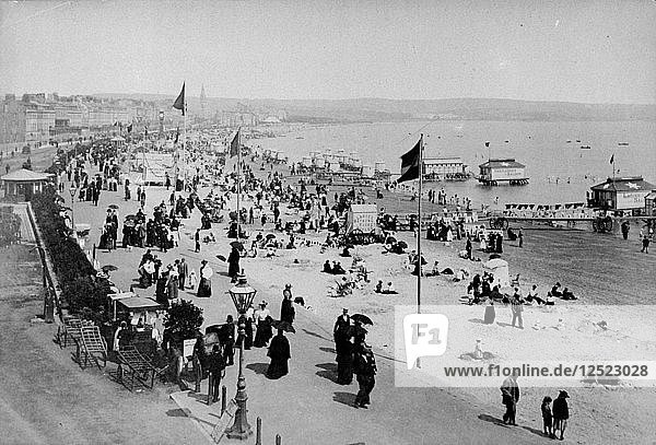 The seafront at Weymouth  Dorset  1890s. Artist: Unknown