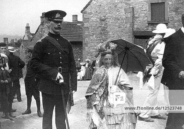 Morris Dance Queen  Winster  Derbyshire  c1908. Artist: Unknown