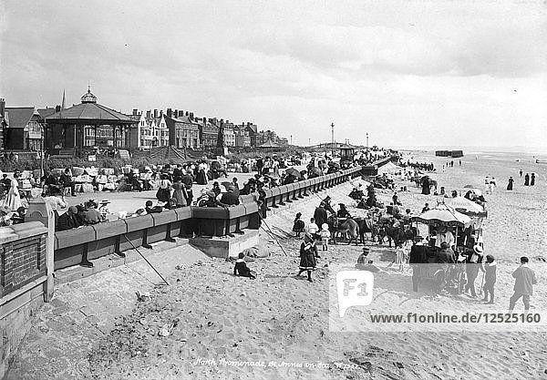 The beach at St Annes-on-Sea  Lancashire  1890-1910. Artist: Unknown