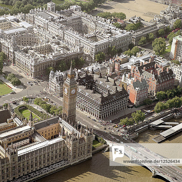 Whitehall and the Houses of Parliament,  Westminster,  London,  2002. Artist: EH/RCHME staff photographer