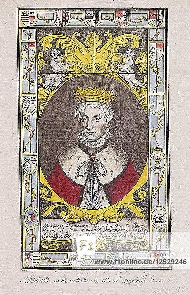 Portrait from stained glass window at St Mary  Battersea  London  1793. Artist: Anon