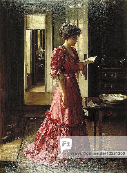 The Letter  1910. Artist: William Mouat Loudan