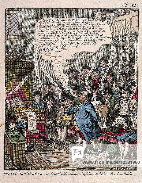 Political candour - i.e. Coalition resolutions of June 14th 1805.... Artist: Anon