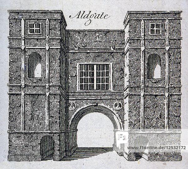 Aldgate  London  c1800(?). Artist: Anon