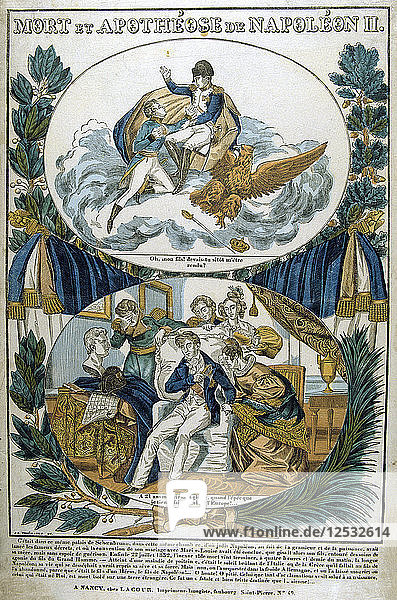 Death and Apotheosis of Napoleon II  19th century. Artist: Unknown