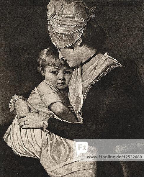 Mrs Carwardine and Child  c1775  (1912).Artist: George Romney