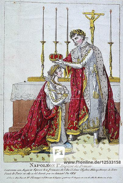 Coronation of the Empress Josephine  2nd December 1804  19th century. Artist: Unknown
