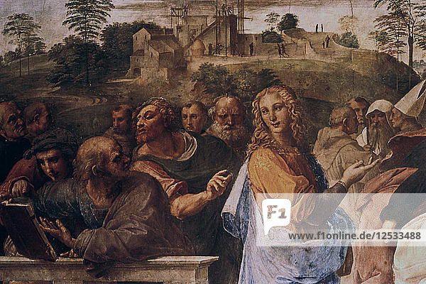 The Disputation on the Holy Sacrament   (detail)  1508-1509. Artist: Raphael