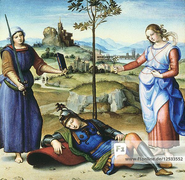 Vision of a Knight  c1504. Artist: Raphael