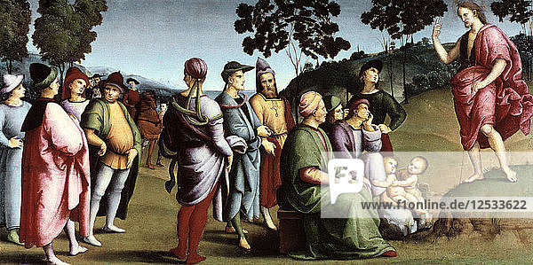 Saint John the Baptist Preaching  1505. Artist: Raphael