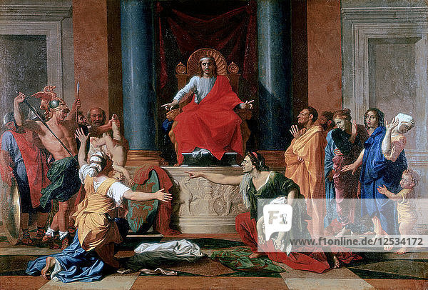 The Judgement of Solomon  1649. Artist: Nicolas Poussin