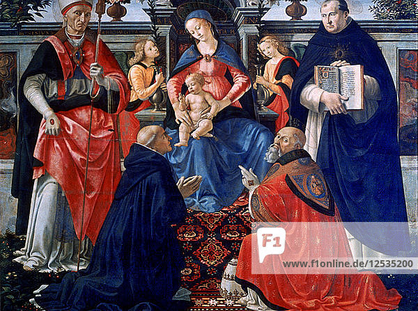 Madonna and Child enthroned with the Saints  1483. Artist: Domenico Ghirlandaio