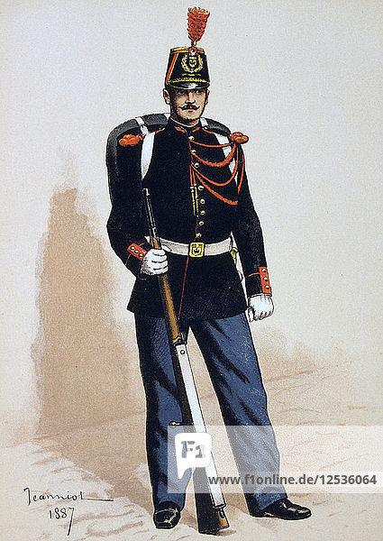 Republican Guard  1871 (1887). Artist: A Lemercier