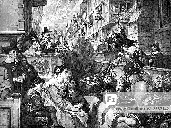 The Setting out of the Train Bands from London...  1643  (19th century). Artist: Unknown