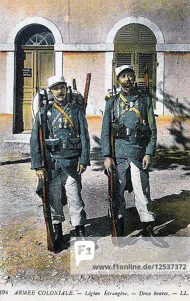 Two French Foreign Legionnaires  20th century. Artist: Unknown