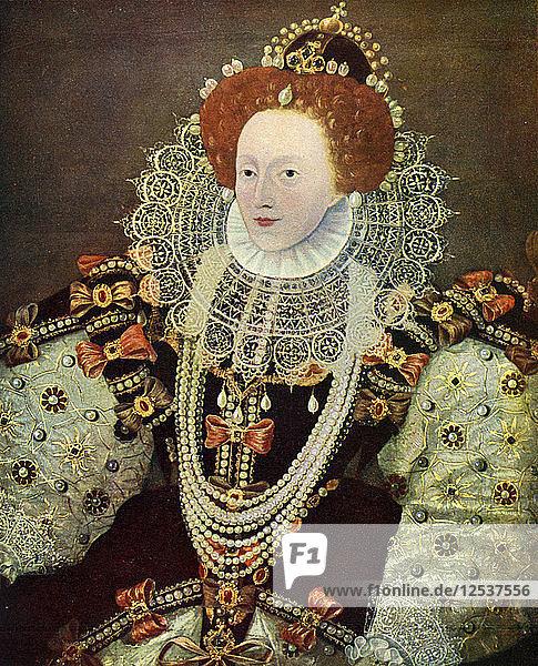Elizabeth I  Queen of England and Ireland  c1588  (c1902-1905). Artist: Unknown
