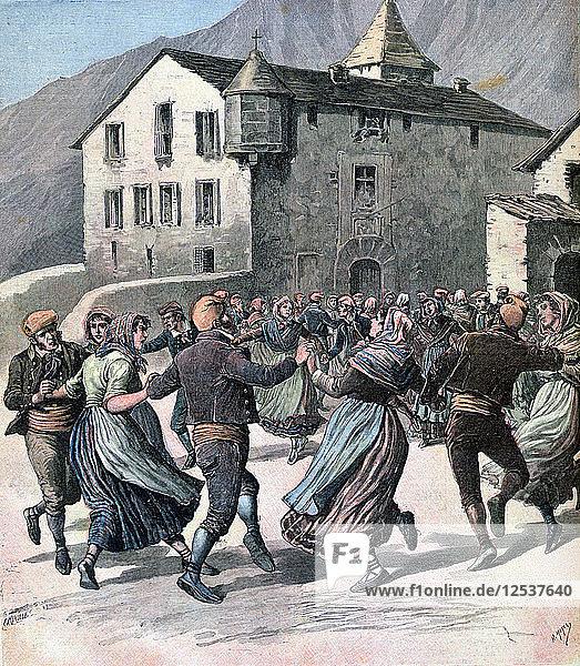 The Farandole,  Andorra,  1891. Artist: Henri Meyer