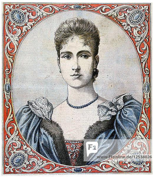 Tsarina Alexandra  Empress consort of Russia  1894. Artist: Unknown