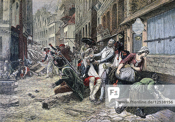 Siege of Lille  October 1792  (1892). Artist: Unknown
