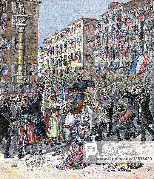 Entry of the French into Milan  8th June 1859  (1893). Artist: Henri Meyer