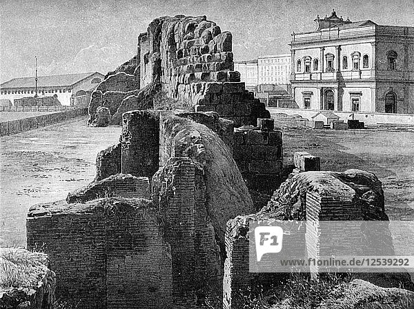 Remains of the Servian wall near the railway station  Rome  1902. Artist: Unknown