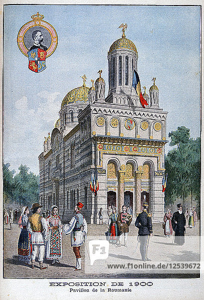 The Romanian pavilion at the Universal Exhibition of 1900  Paris  1900. Artist: Unknown