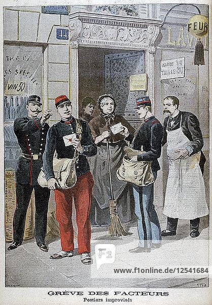 Post-office employees improvise  1899. Artist: Henri Meyer