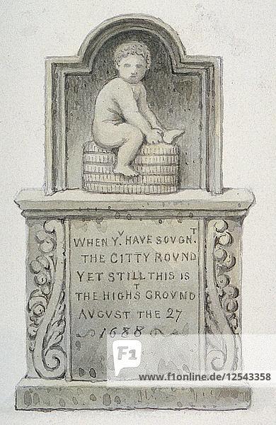Stone relief  Newgate Street  City of London  1820. Artist: Anon