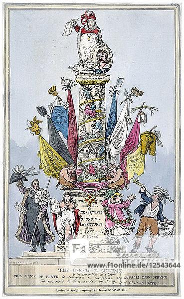 The C-r-l-e Column  1821. Artist: John Baker